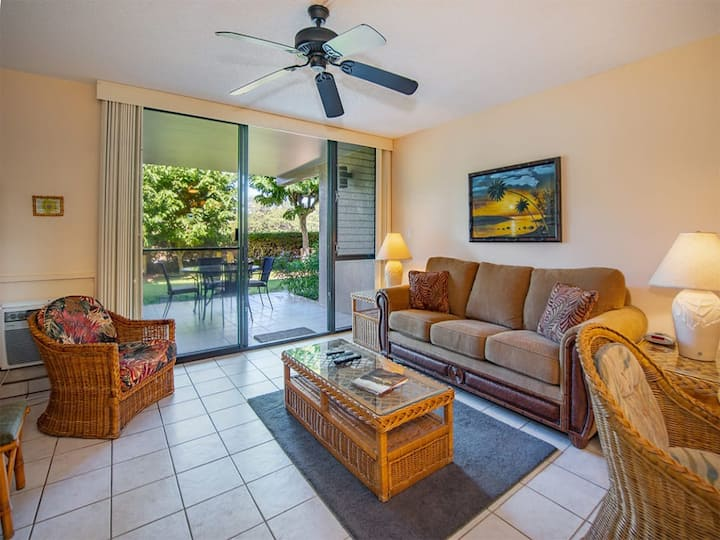Ground Floor w/Full Kitchen, Private Lanai, Laundry, A/C, Flat Screens, WiFi–Kamaole Sands 4104