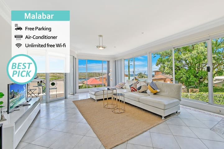 Sydney Malabar Family House Sea View +Parking NMB109