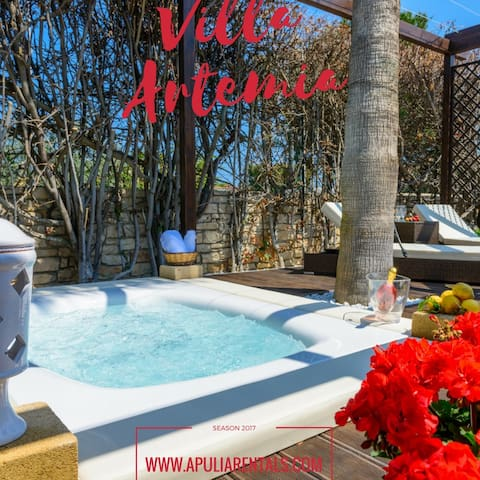 Villa Artemia with Jacuzzi on the sea