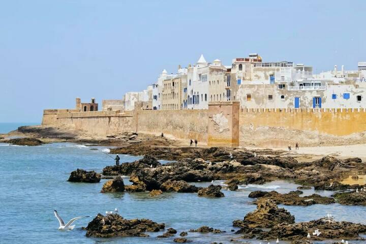 Essaouira. Marocco. Appartamento con terrazza.