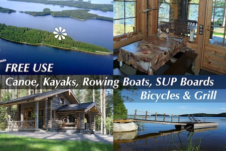 Luxury Kelo Cabin – 15 m to the lake