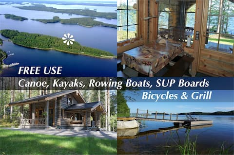 Luxury Kelo Cabin – 15 m to the lake