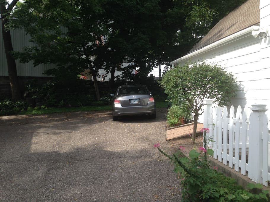 One parking space in driveway