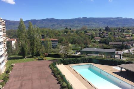 Beau studio piscine et vue dégagée - Saint-Julien-en-Genevois - Lakás