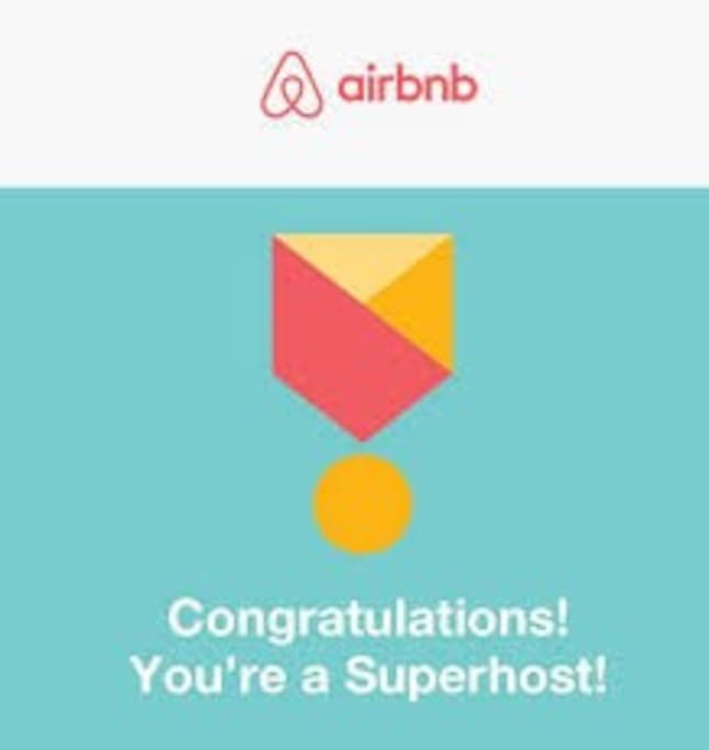 ausgezeichnet als airbnb-Superhost