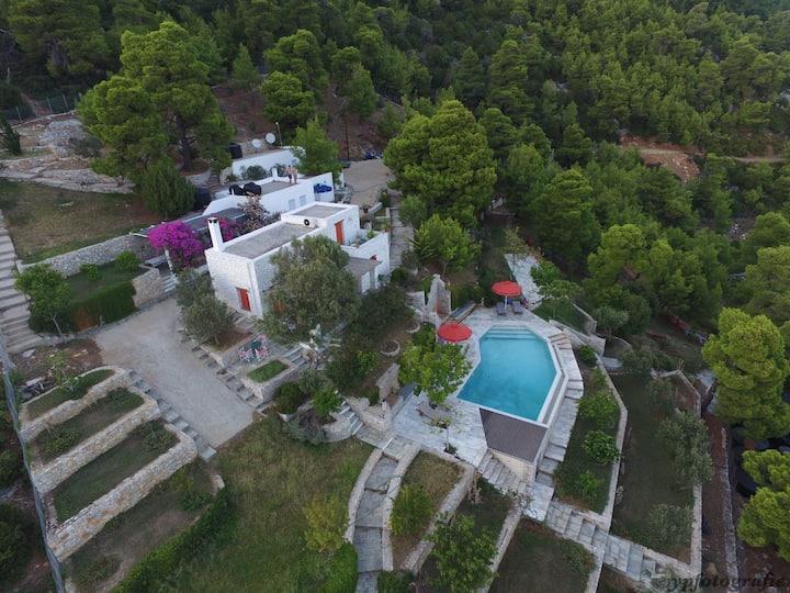 Pefkos- Haus Pelagos mit Pool