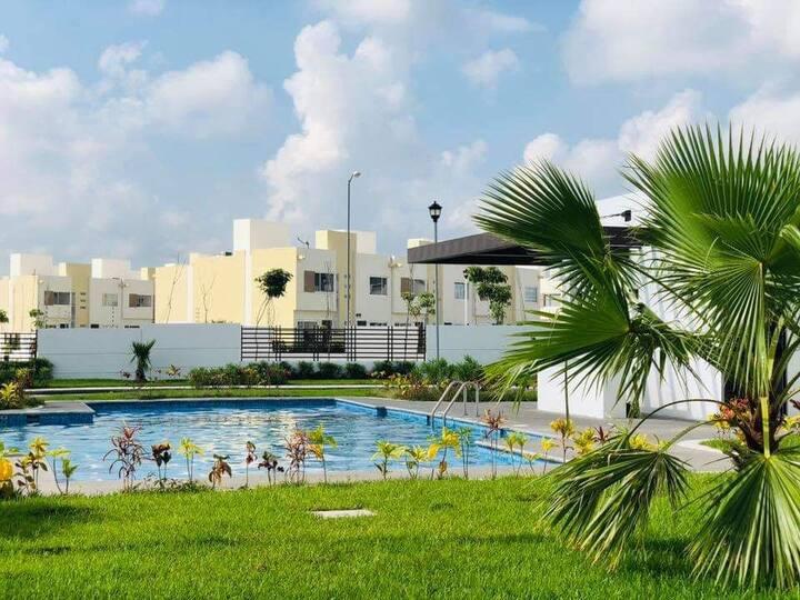 Hermosa Casa Paraíso cómoda con Alberca, Veracruz