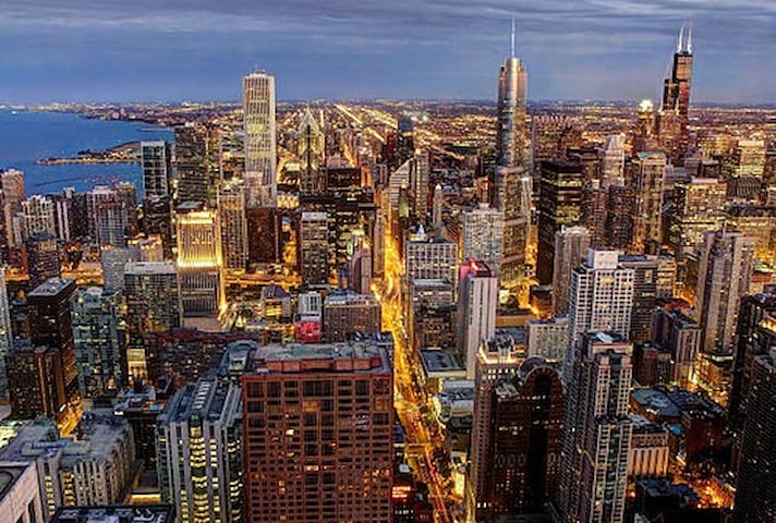 Chicago by nighttime