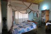 Bedroom 1  Sun rise Cottage with double bed.  Sleep one or two persons.