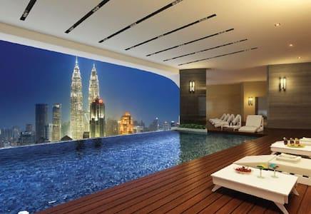 Skyline pool near KLCC , twin tower - 吉隆坡 - 公寓