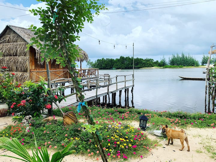 Over-water cottage in PhuQuoc Ecolodge