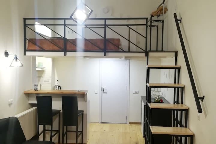 ❀ cozy STUDIO with Mezzanine in City Center ❀