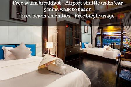 ♥ Wooden Stilt House ☆ Twin Suite ♥ Beach access