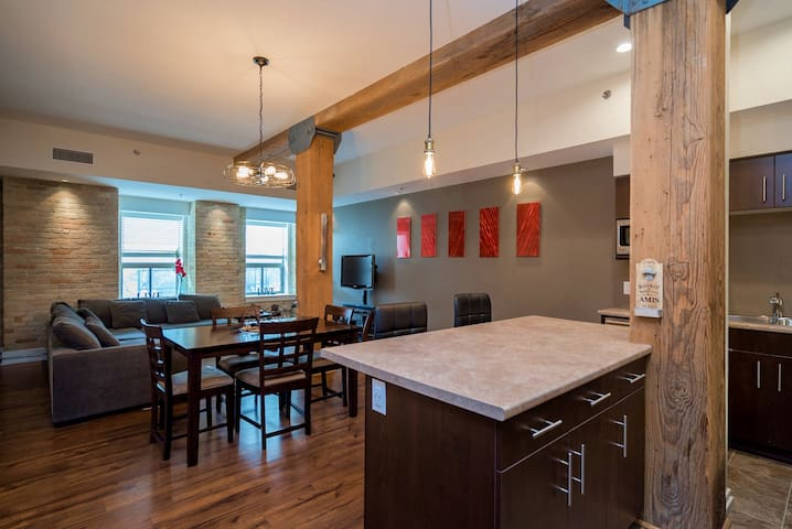 Gorgeous loft style condo in the Exchange District