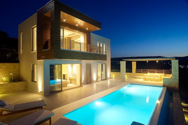 2 bedroom villa - Panoramic Ocean view near Balos