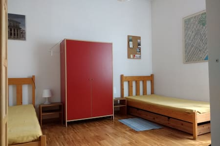 Bright, spacious and quiet room, 2 beds, wi-fi