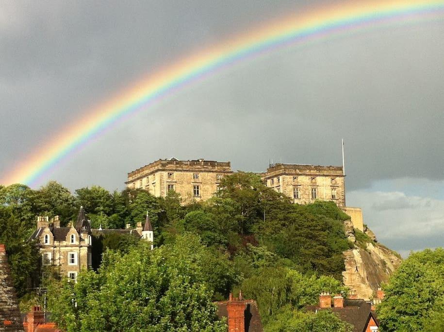 Nottingham Castle from house