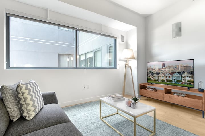 Crisp Rincon Hill 1BR w/ W/D + Parking, near Bay Bridge by Blueground