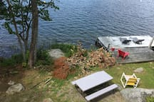 Guests are free to use the dock, firepit and picnic table