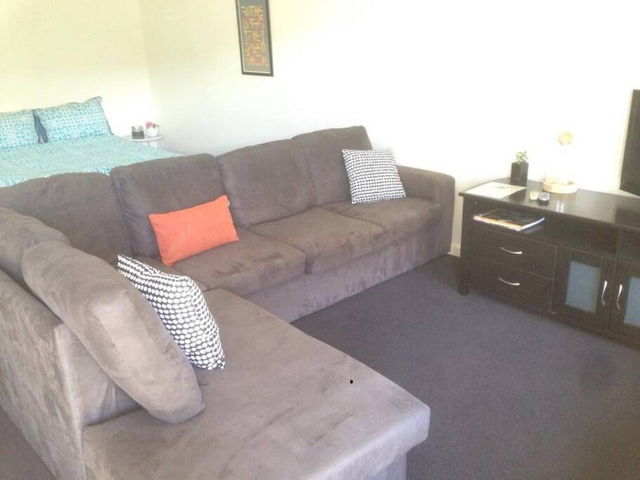 Couch and sitting area