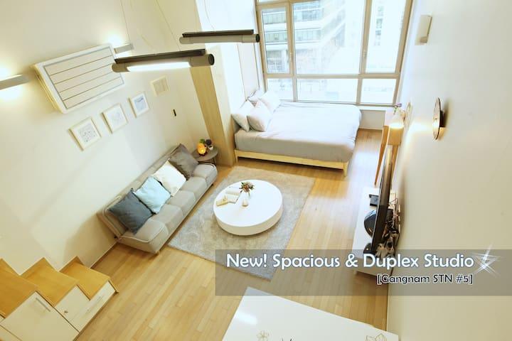 [Gangnam STN#5]New! Spacious&Duplex&Comfort studio