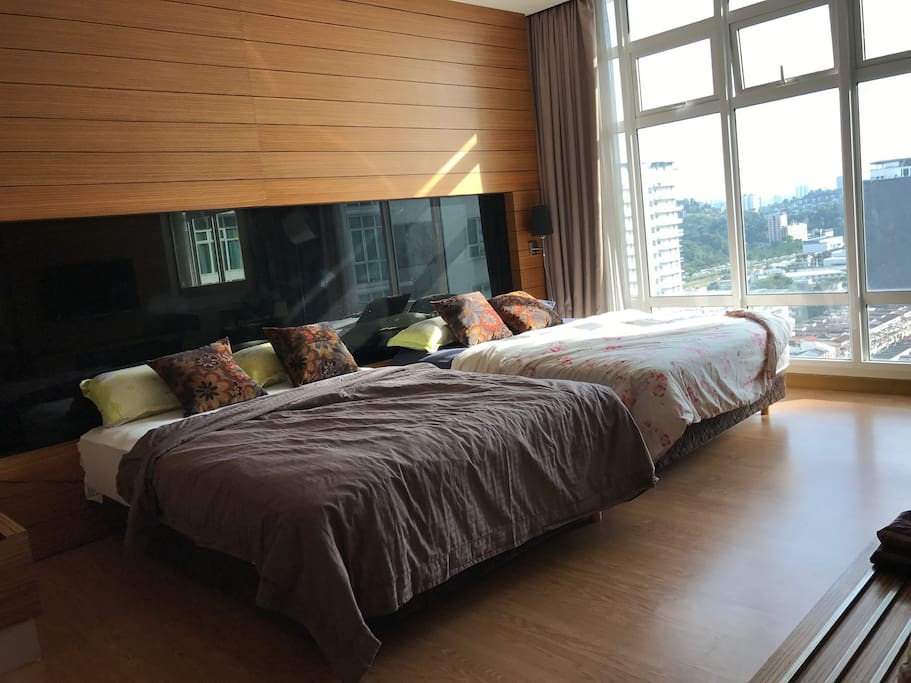 Very spatious 2 bedrooms apartment, the best design within this hotel