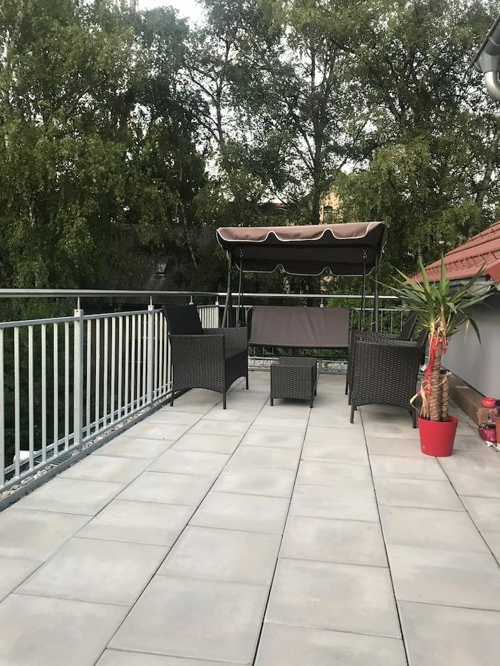 Schöne  Unterkunft mit Große Terrasse in Wangen