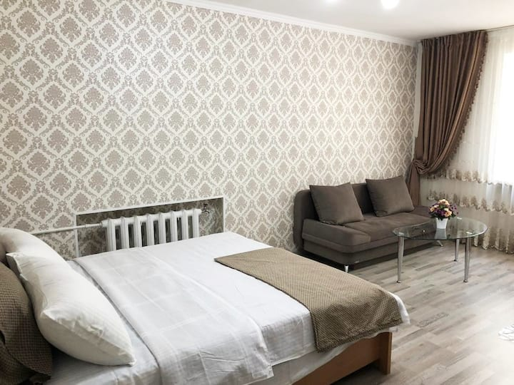 Cozy, bright central apartment in Bishkek