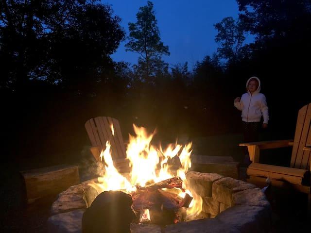 Enjoy fun times around the fire pit