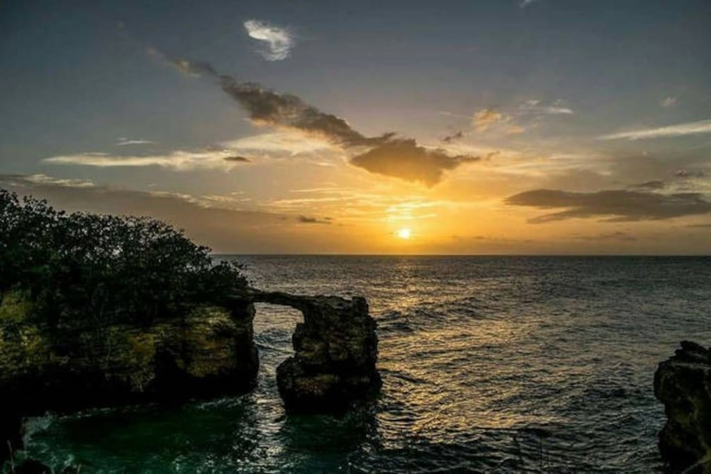 El Faro Light House Sunset at Cabo Rojo.  Awsome!! Things to do while staying at our Charming Apartments :)