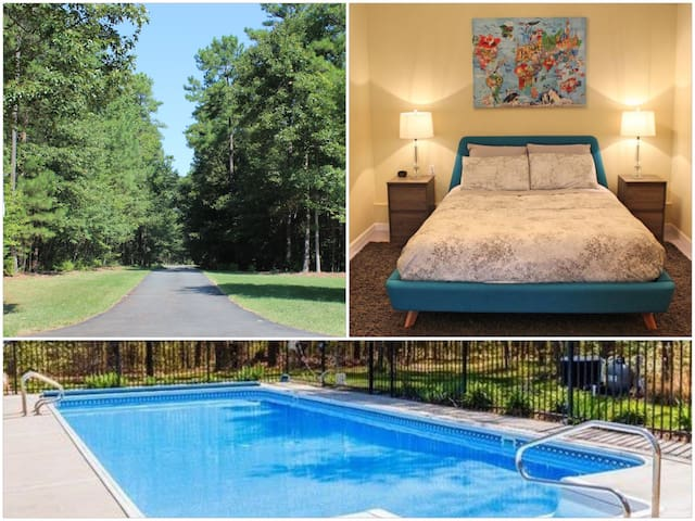 Private and Quiet Pool House Convenient Location