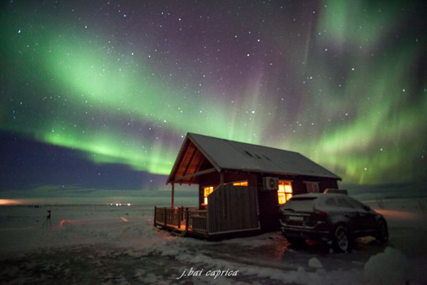 Perfect place to spot northern lights and stars.