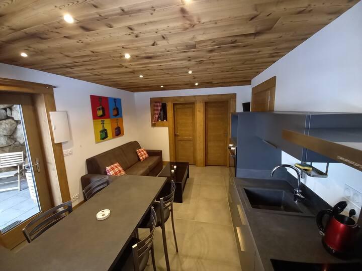 Appartement 1 chbre dans chalet neuf, 4 personnes