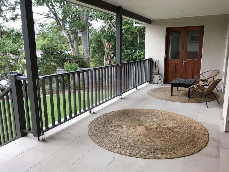 Private entrance and exclusive outdoor seating