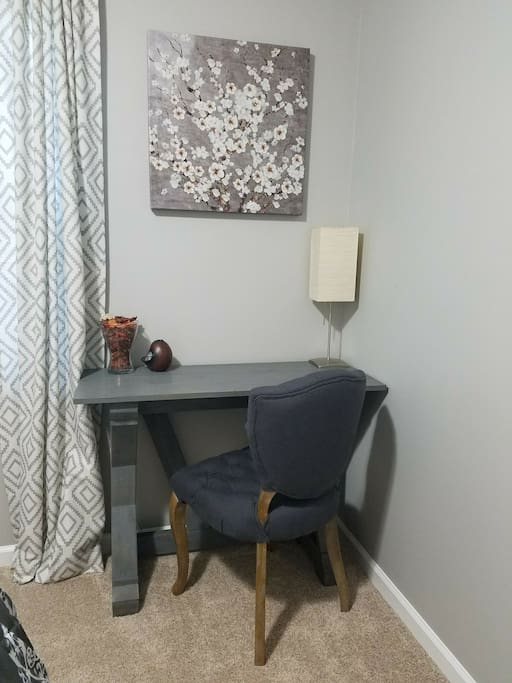 Desk with lamp