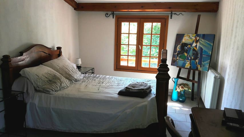 Beautiful bedroom in a corsican village