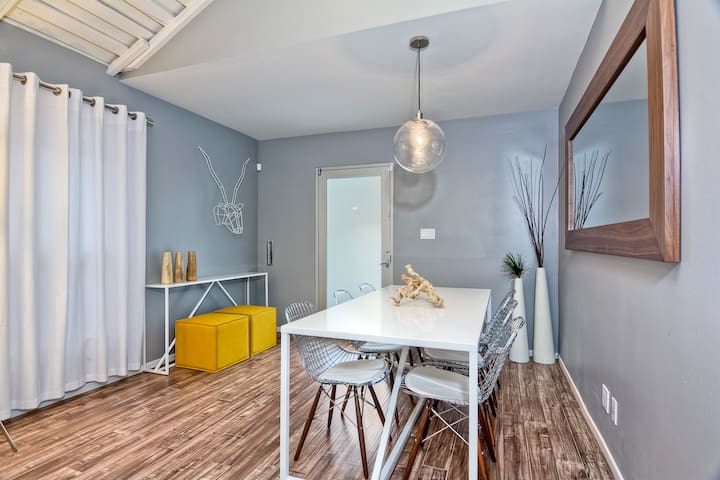 Dining Table and Front Door