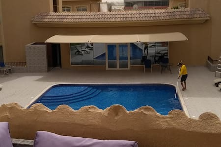 Large 1BR appart. Big terrace. Pool view. 90 sq.m