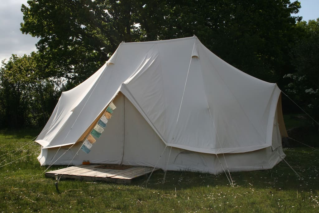 The Bell Tent in the evening sun