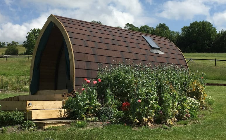 Luxury Glamping Pod  in the Wiltshire Countryside