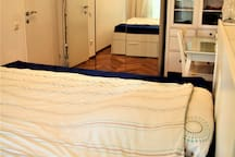 Sleeping room with double bed