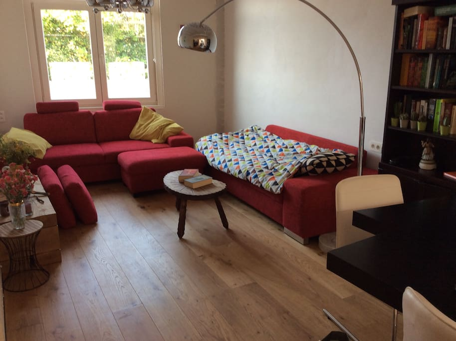 Living area, comfortable sitting for 6 p, possible 2 sleepingplaces (comfortable)