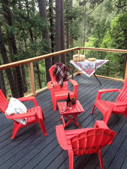 We have just updated our main deck with a hog-fence un-obstructed view of the forest. New photos coming!