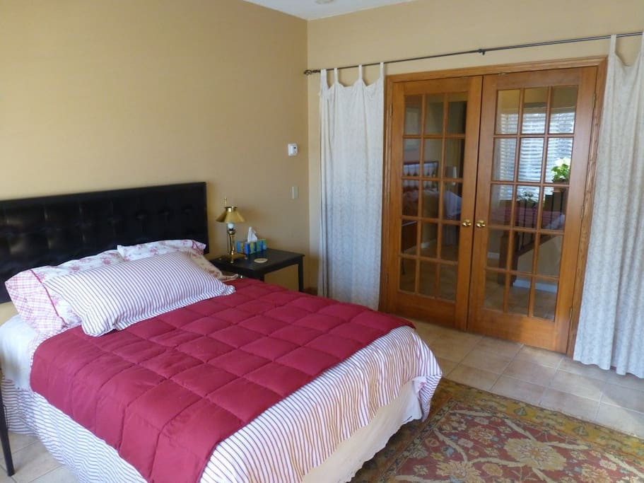 Private bedroom w french doors
