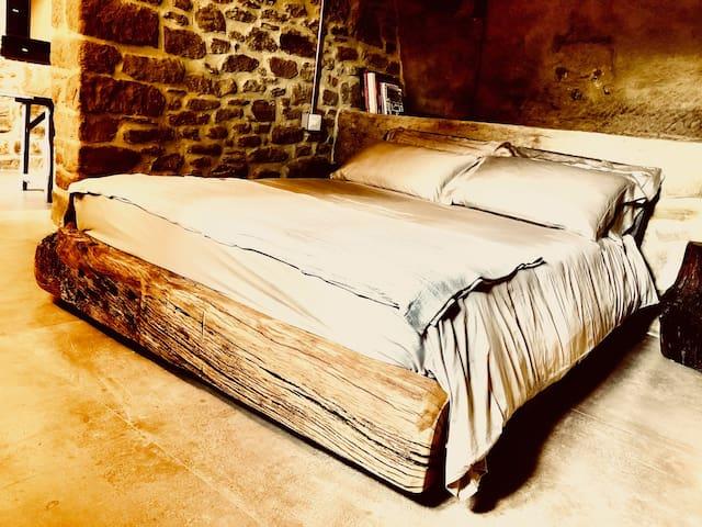 Hand made Oak bed