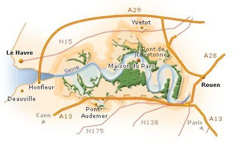Au coeur du parc naturel régional des boucles de la seine normande