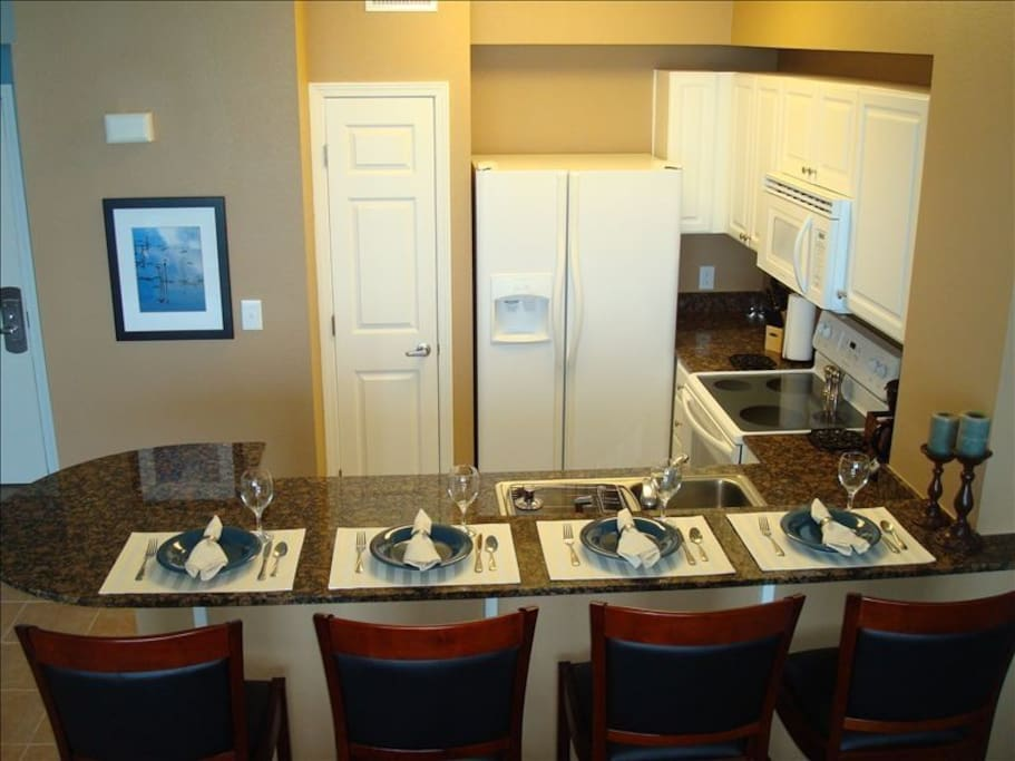 Fully Equipped Kitchen with Seating for Eight