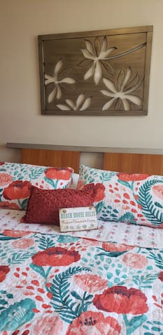Fresh and clean linens and comfy bed to help you sleep soundly!