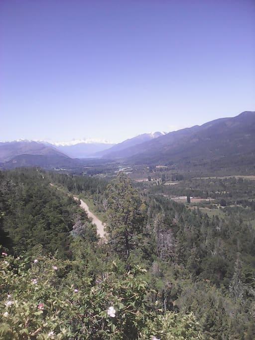 Valle del rio azul desde el Mirador