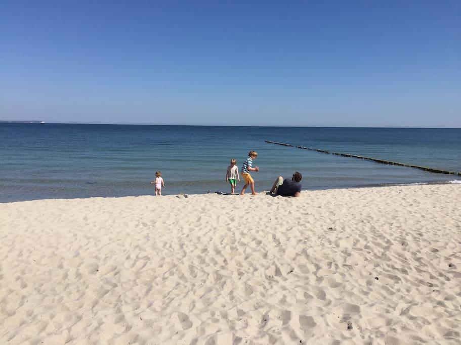 Fußläufig zum Strand